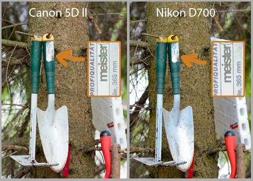 Farbtests und Stabilität der Canon 5D Mark II und Nikon D700