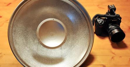 Beauty-Dish fuer Kompaktblitze