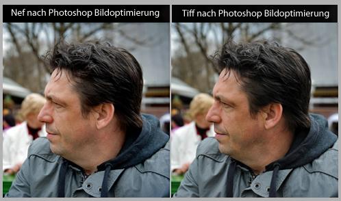 Bildbearbeitung in Photoshop für Nikons NEF und Tiff