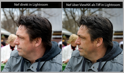 Raw Tesbilder im Vergleich zu Tiff bzw. JPEG